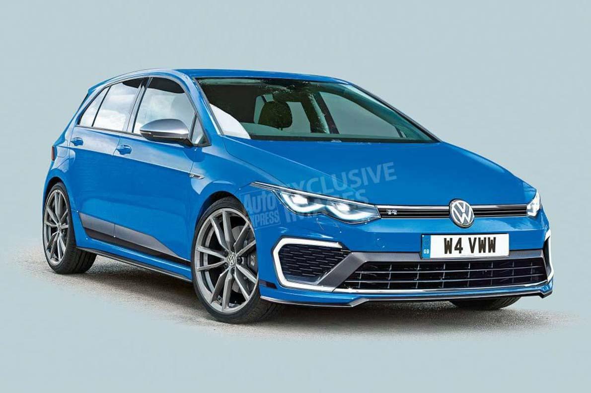 2021 Volkswagen Golf R 谍照流出,最大马力将突破330 PS!