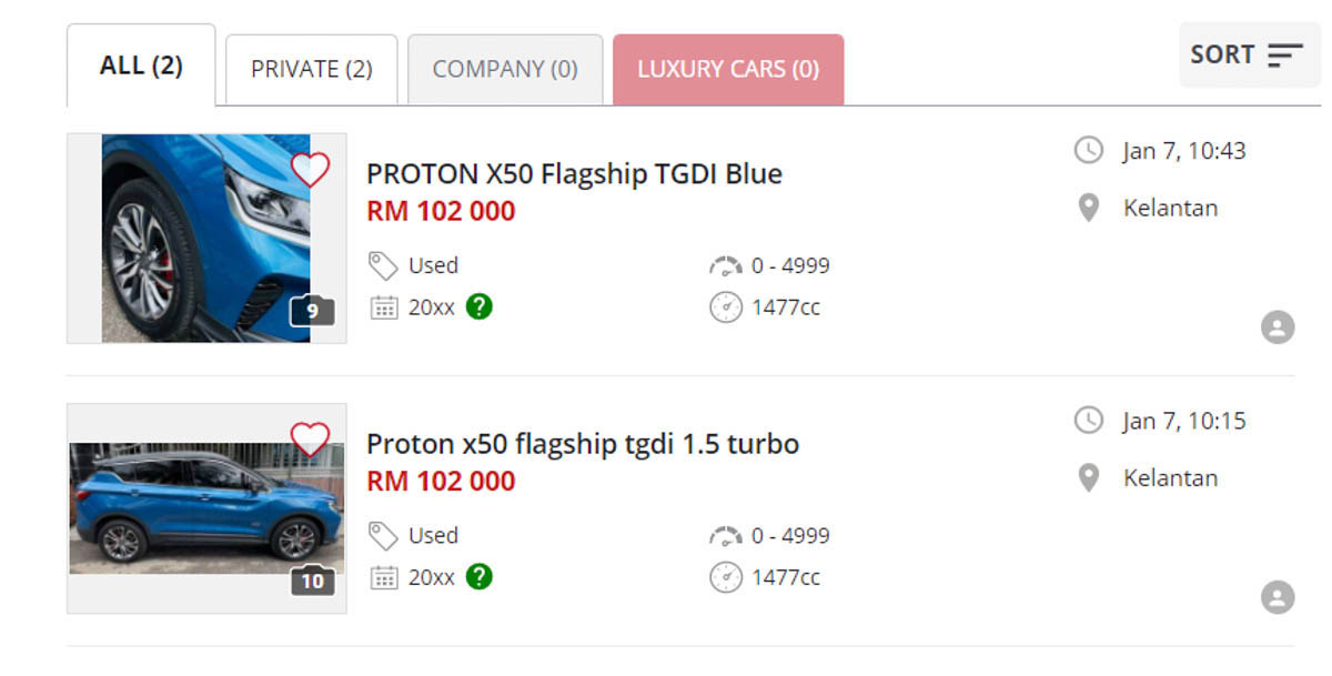 Proton X50 Used For Sale