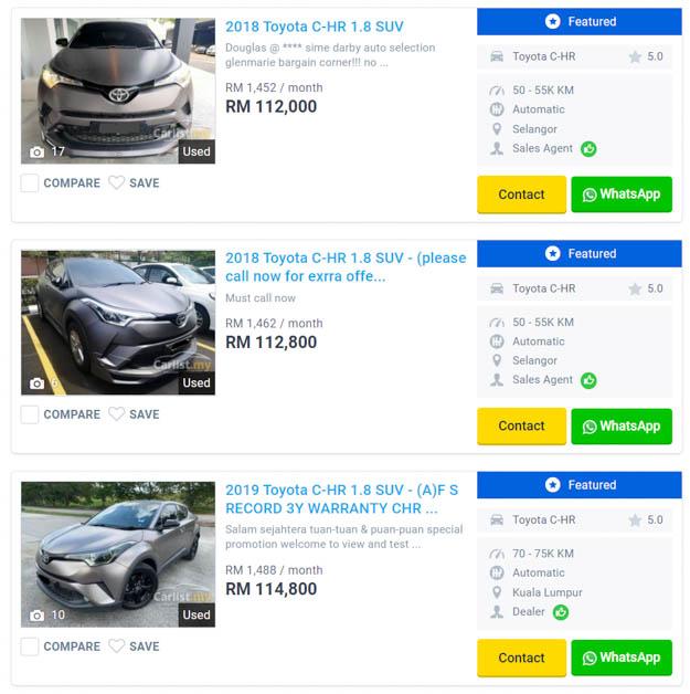 2018-2019 Toyota C-HR Used Car
